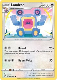 Loudred, Pokemon, SWSH04: Vivid Voltage