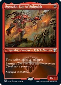 Rograkh, Son of Rohgahh (Foil Etched), Magic: The Gathering, Commander Legends