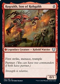 Rograkh, Son of Rohgahh, Magic: The Gathering, Commander Legends