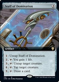 Staff of Domination (Extended Art), Magic, Commander Legends