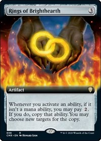 Rings of Brighthearth (Extended Art), Magic, Commander Legends