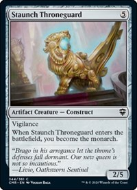 Staunch Throneguard, Magic: The Gathering, Commander Legends