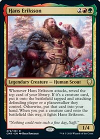 Hans Eriksson, Magic: The Gathering, Commander Legends