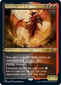 Rakdos, Lord of Riots (Foil Etched), Magic: The Gathering, Commander Legends