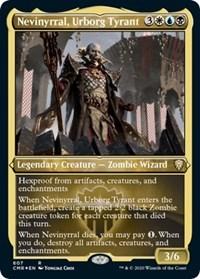 Nevinyrral, Urborg Tyrant (Foil Etched), Magic: The Gathering, Commander Legends