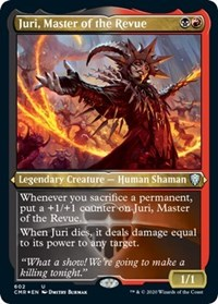 Juri, Master of the Revue (Foil Etched), Magic: The Gathering, Commander Legends