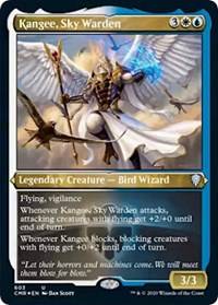 Kangee, Sky Warden (Foil Etched), Magic: The Gathering, Commander Legends