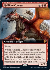 Hellkite Courser (Extended Art) (Foil)