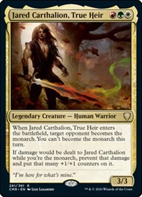 Jared Carthalion, True Heir, Magic: The Gathering, Commander Legends