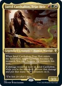 Jared Carthalion, True Heir (Foil Etched), Magic: The Gathering, Commander Legends