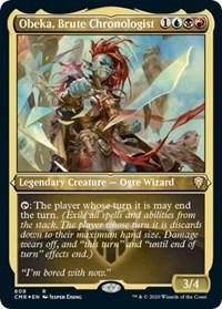 Obeka, Brute Chronologist (Foil Etched), Magic: The Gathering, Commander Legends