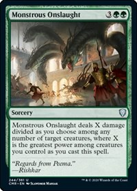 Monstrous Onslaught, Magic: The Gathering, Commander Legends