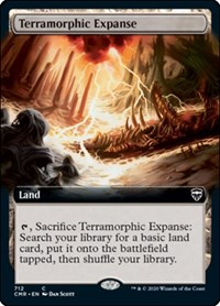 Terramorphic Expanse (Extended Art), Magic: The Gathering, Commander Legends