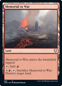 Memorial to War, Magic: The Gathering, Commander Legends