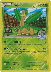 Tropius - 5/101 (National Championship Promo), Pokemon, Plasma Blast