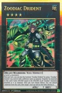 Zoodiac Drident, YuGiOh, Maximum Gold