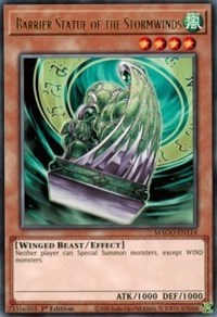 Barrier Statue of the Stormwinds, YuGiOh, Maximum Gold