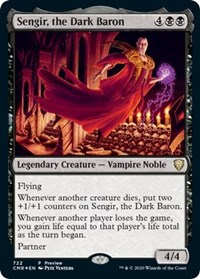 Sengir, the Dark Baron (Alternate Art), Magic, Prerelease Cards