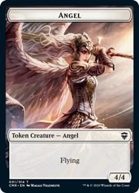 Angel // Salamander Warrior Double-sided Token, Magic: The Gathering, Commander Legends