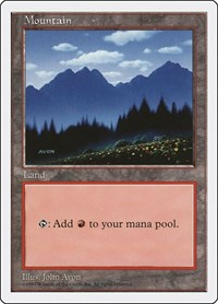 Mountain (445), Magic: The Gathering, Fifth Edition