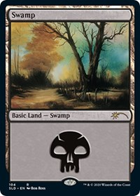 Swamp (104) (Bob Ross), Magic: The Gathering, Secret Lair Drop Series
