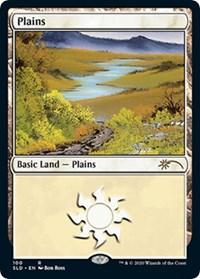 Plains (100) (Bob Ross), Magic: The Gathering, Secret Lair Drop Series