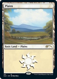 Plains (101) (Bob Ross), Magic: The Gathering, Secret Lair Drop Series