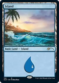 Island (102) (Bob Ross), Magic: The Gathering, Secret Lair Drop Series