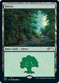 Forest (108) (Bob Ross), Magic: The Gathering, Secret Lair Drop Series