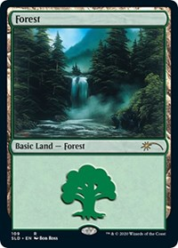 Forest (109) (Bob Ross), Magic: The Gathering, Secret Lair Drop Series