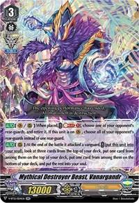 Mythical Destroyer Beast, Vanargandr, Cardfight Vanguard, Divine Lightning Radiance