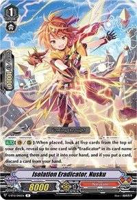 Isolation Eradicator, Nusku, Cardfight Vanguard, Divine Lightning Radiance