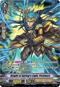 Knight of Spring's Light, Perimore (SP), Cardfight Vanguard, Divine Lightning Radiance