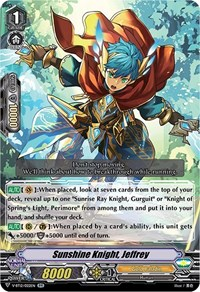 Sunshine Knight, Jeffrey, Cardfight Vanguard, Divine Lightning Radiance