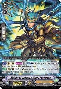 Knight of Spring's Light, Perimore, Cardfight Vanguard, Divine Lightning Radiance
