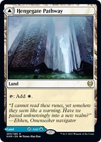 Hengegate Pathway, Magic: The Gathering, Kaldheim