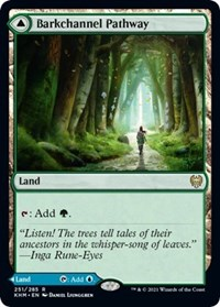 Barkchannel Pathway, Magic: The Gathering, Kaldheim
