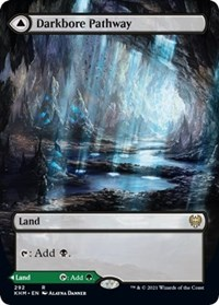 Darkbore Pathway (Borderless), Magic: The Gathering, Kaldheim
