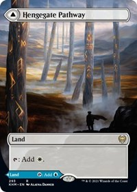 Hengegate Pathway (Borderless), Magic: The Gathering, Kaldheim