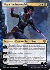 Kaya the Inexorable (Borderless), Magic: The Gathering, Kaldheim