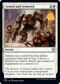 Armed and Armored, Magic: The Gathering, Kaldheim