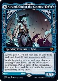 Alrund, God of the Cosmos // Hakka, Whispering Raven (Showcase) (Foil)