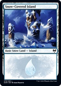 Snow-Covered Island (279), Magic: The Gathering, Kaldheim
