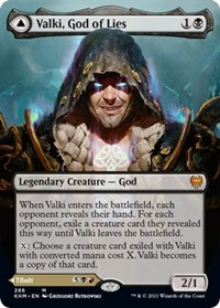 Valki, God of Lies (Borderless), Magic: The Gathering, Kaldheim
