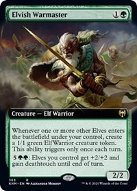 Elvish Warmaster (Extended Art), Magic: The Gathering, Kaldheim