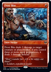 Frost Bite, Magic: The Gathering, Promo Pack: Kaldheim