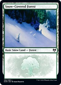 Snow-Covered Forest (284), Magic: The Gathering, Kaldheim