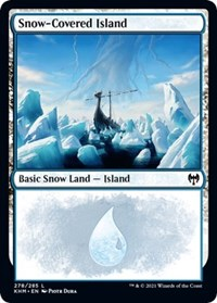 Snow-Covered Island (278), Magic: The Gathering, Kaldheim