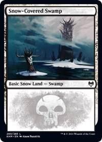 Snow-Covered Swamp (280), Magic: The Gathering, Kaldheim