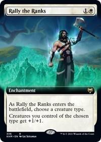Rally the Ranks (Extended Art), Magic: The Gathering, Kaldheim